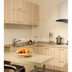 Soft Super Matt Wood PVC Laminate Foil/Film for Furniture/Cabinet/Closet/Door Htd026 pictures & photos