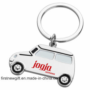 Promotion Cheap Laser Engrave Logo Fashion Car Shape Keychain (F1321A) pictures & photos