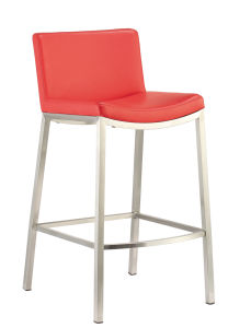 Fixed PU Bar Stool with Backrest pictures & photos