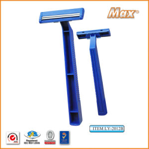 Hot Twin Stainless Steel Blade Disposable Shaving Razor (LY-2012B) pictures & photos