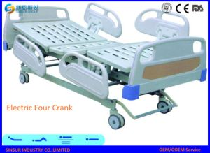 ISO/CE Approved Medical Use Electric Four Crank Hospital Medical Bed pictures & photos