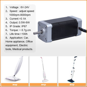 Micro DC Electric Brushless Geared Motor 48V for Scanner pictures & photos