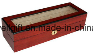 6 Piece Cherry Wood Rosewood Watch Box Display Case pictures & photos