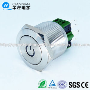 Qn25-A3 25mm Character Illuminated Type Momentary Latching Flat Head Pin Terminal Metal Push Button Switch pictures & photos