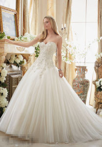 Ball Gown Lace Beaded Bridal Wedding Dresses 2892 pictures & photos