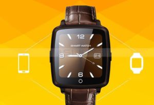 1.54 Inch Camera Bluetooth SIM Smart Watch Phone Mobile Cell Phone with Leather Wrist pictures & photos