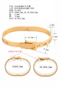 Fashion Jewelry Bracelet Manufacturer Wholesale Stainless Steel Belt Buckle Bangle pictures & photos