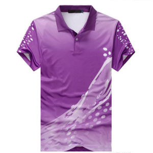Quick-Drying Sublimation Polo Tee Shirt pictures & photos
