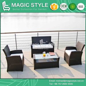 Garden Wicker Sofa Set Patio Rattan Sofa Set Hot Sale Sofa Set (Magic Style) pictures & photos