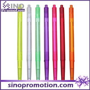 Transparent Ballpoint Pen Colorful Plastic Ball Pen as Promotional Gift