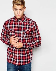 Wholesale Men Plaid Check Shirt with Button Down Collar pictures & photos