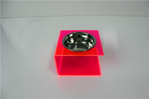 Single Organge Acrylic Small Gog Feeder, Cat Feeder, Cat Bowl pictures & photos