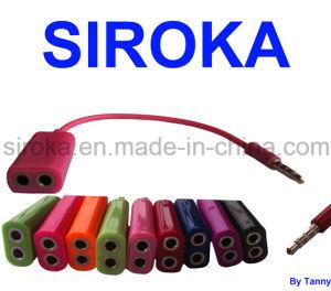 Multi-Color 3.5mm Fiber Optic Splitter Couple Earphone for iPhone pictures & photos