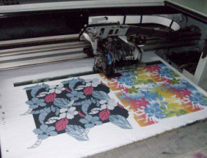 Univesal Flatd Canvas Printing Machine for Canvas Shoes Shopping Bags Striped Canvas Fabric (colorful1225) pictures & photos
