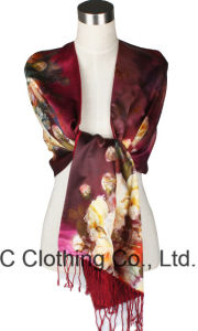 Wholesale Colorful Ladies 100% Silk Neck Scarf pictures & photos