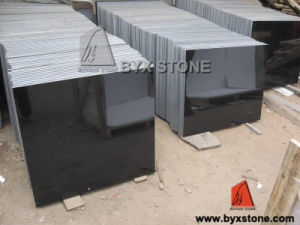 Chinese Polished Mongolia Black Granite Tile for Wall and Floor pictures & photos