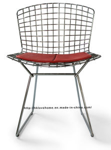 Modern Dining Restaurant Knock Down PU Cushion Wire Chair pictures & photos