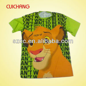Custom Printed Fancy Round Collar Design Kids T Shirts Printing pictures & photos