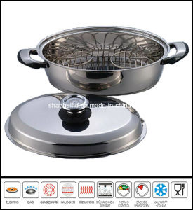Oval Chicken Roast Pan Stainless Steel Roaster Pan Cookware pictures & photos