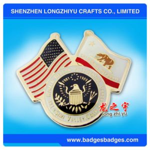 Flag Pin of America and California Republic pictures & photos