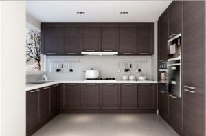 MDF Covered Veneer Kitchen Cabinets