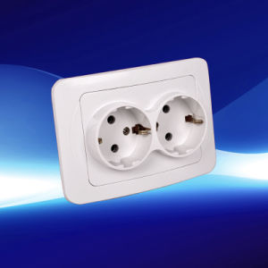 2 Gang Wall Socket European Style (YW2312) pictures & photos