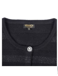 Lady′s 100% Pure Cashmere Knitwear with Metallic Yarns pictures & photos