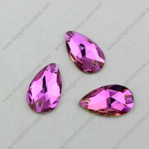Wholesale Fancy Glass Drop Rose Sew on Glass Rhinestone pictures & photos