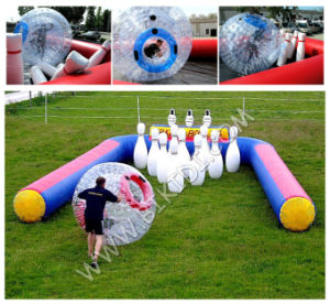 Inflatable Go Karts Race Track, Inflatable Enclosure for Zorb Ball, Inflatable Race Track Inflatable Zorb Ball Track for Sale B6083 pictures & photos