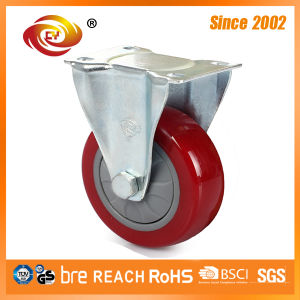4 Inch Red PU Industrial Caster