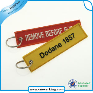 Custom Logo Embroidery Keychains Short Lanyard Promotion Gift pictures & photos