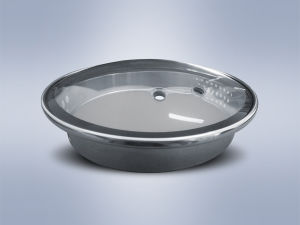 L-Type Normal Printing-Ink Tempered Glass Lid pictures & photos