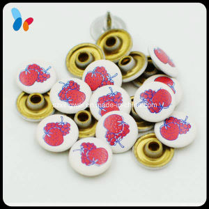 Wholesale Fruit Strawberry Logo Metal Brass Rivet for Girls Jeans pictures & photos