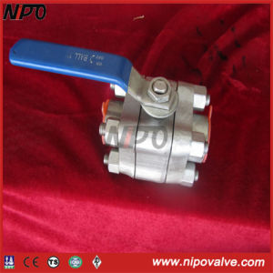 3-PCS Stainless Steel Threaded Ball Valve pictures & photos