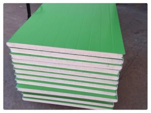 40mm PU Color Steel Sandwich Panel Use for Construction pictures & photos