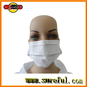 Disposable Face Mask 2ply/3ply/4ply Ear Loop & Tie on, Auto Machine Individual Packing pictures & photos