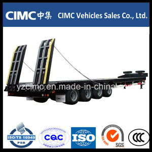 Cimc 4 Axles Low Bed Semi Trailer pictures & photos