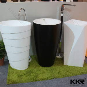 Wholesale Resin Free Standing Bathroom Pedestal Sink pictures & photos