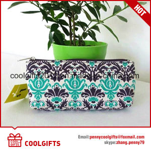 Canvas Cosmetic Bag with Flower Print for Promotion pictures & photos