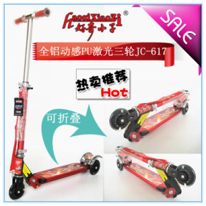 2017 New Full Steel Flashing Mini Scooter for Kids