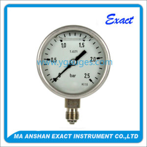 Modern All Stainless Steel Liquid Filled Pressure Gauge pictures & photos