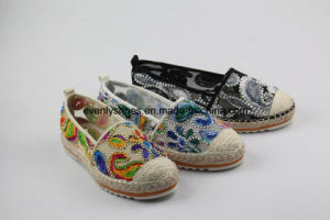 Breathable Flora Upper Flat Ballet Fashion Women Shoes pictures & photos