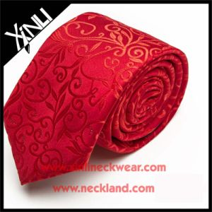 Mens Jacquard Woven Red Tie in Silk Ties pictures & photos