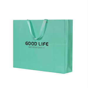 High Quality Wholesale Elegant Foil Stamping Logo Paper Gift Bag pictures & photos