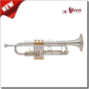 S Style Silver Plated Finish Stainless Steel Piston Trumpet (TP8398S) pictures & photos