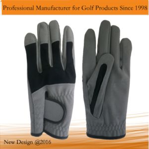 New Design Grey Microfiber Golf Glove pictures & photos