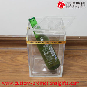 Eco-Friendly Plastic Acrylic Cheap Clear Wine Ice Bucket