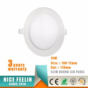 Ce RoHS Approved Best Price 15W Ultra Slim Round LED Panel&LED Downlight pictures & photos