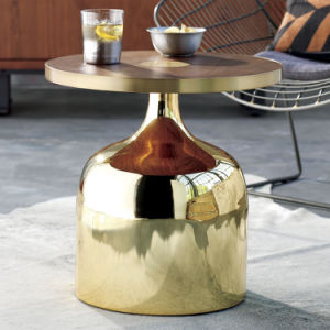 Modern Royal Wood Round Coffee Table with Iron Base (CB-765)