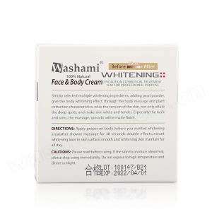 Washami 100% Natural Best Skin Whitening Cream for Face & Body pictures & photos